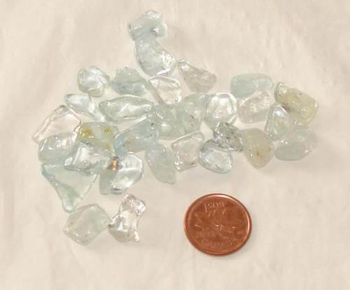 Blue Topaz tumbled stones - 1 gram