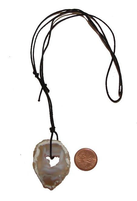 Polished Agate Stone Pendant from Brazil, Image 2