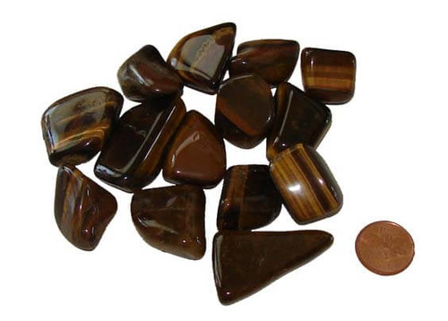 Tumbled Gold Tiger Eye Stones - size medium