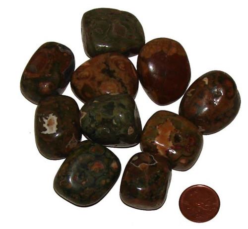Tumbled Rainforest Jasper stones - size extra large