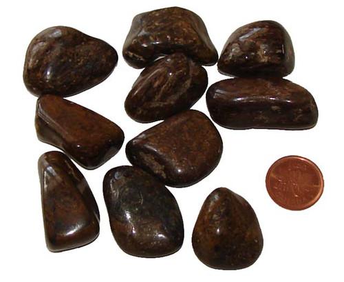 Tumbled Axinite stones - size large