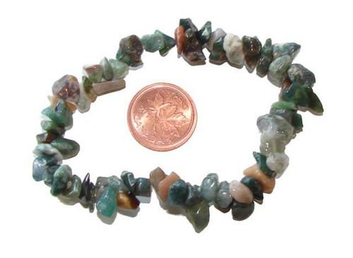 Green Moss Agate Chipstone Bracelets