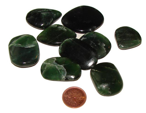 Green Kyanite Soothing Pocket Stones, Extra Small