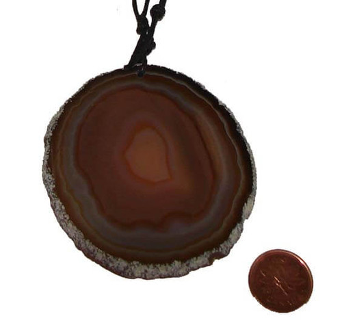 Large Agate Stone Pendant from Brazil