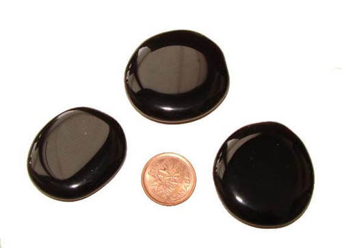 Black Obsidian Pocket Stones, small