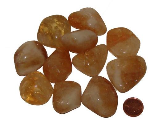 Tumbled Citrine stones - size XX Large