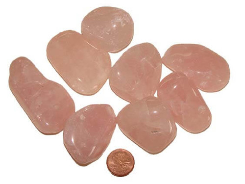 Rose Quartz Tumbled Stones, size huge