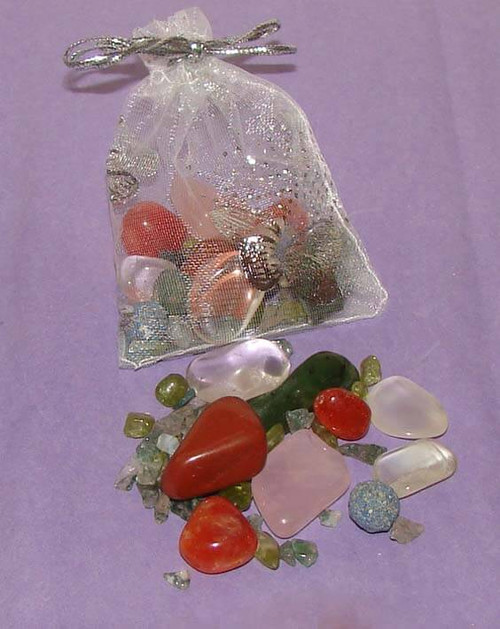 Set of the Best Stones for Fertility & Pregnancy in a clear organza pouch