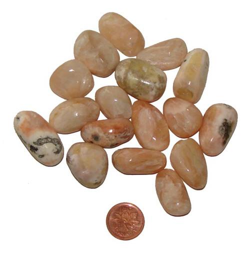 Tumbled Stilbite stones - size small