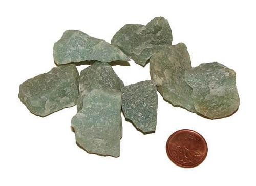 raw green aventurine quartz stones - size small