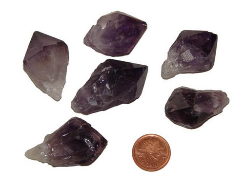Drilled Amethyst Points for pendants