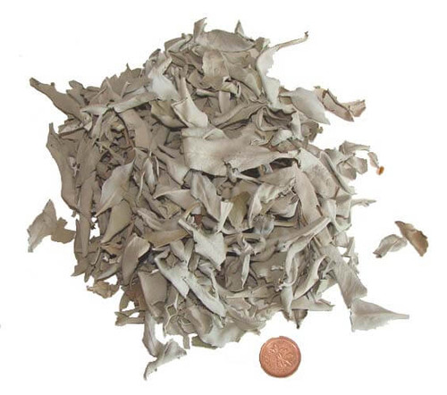 Loose white sage leaves, 1 ounce (28 grams)