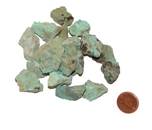 Raw Chrysocolla Stones - size extra small