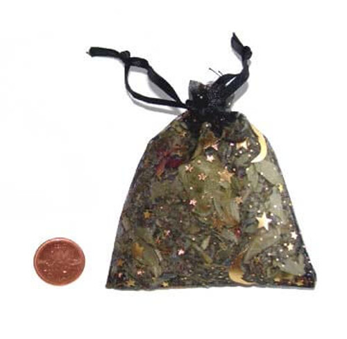 Dream Herbs in black organza pouch