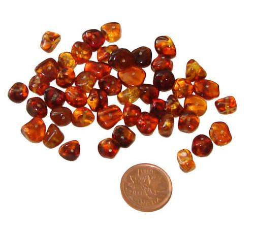 Baltic Amber Tumbled Stones - 2 grams