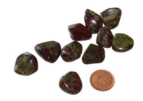 Tumbled Dragon Blood Jasper stones - extra small