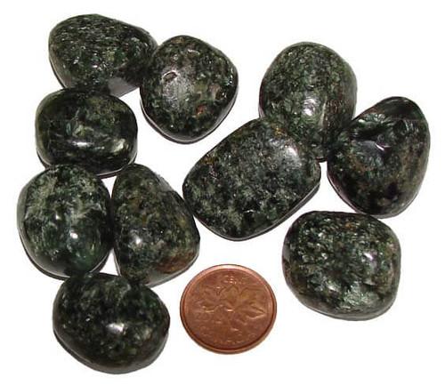 Tumbled Seraphinite Stones, 9 grams