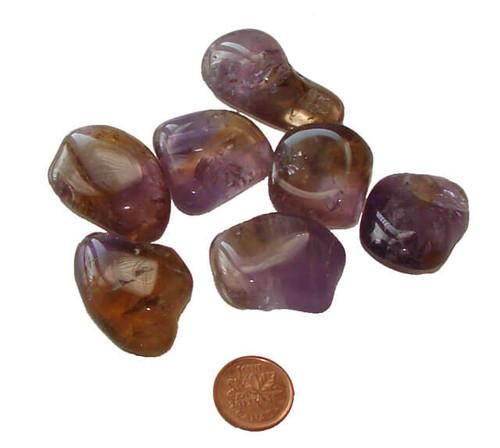 Ametrine Tumbled Stones - size large