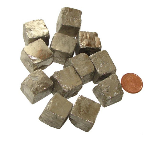 Pyrite Cubic Crystals - size XX Large