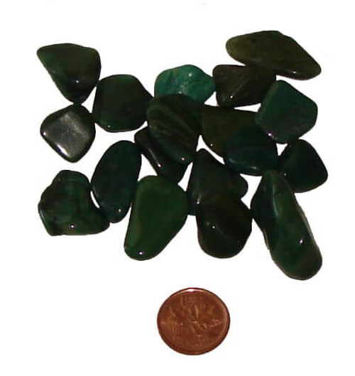 Tumbled African Jade stones - size Teeny