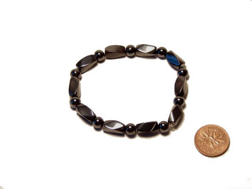 Magnetic Hematite Bracelets with Twist Beads