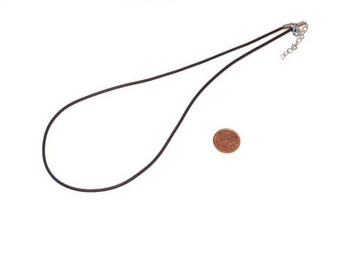 Faux leather jewelry cord with lobster clasp
