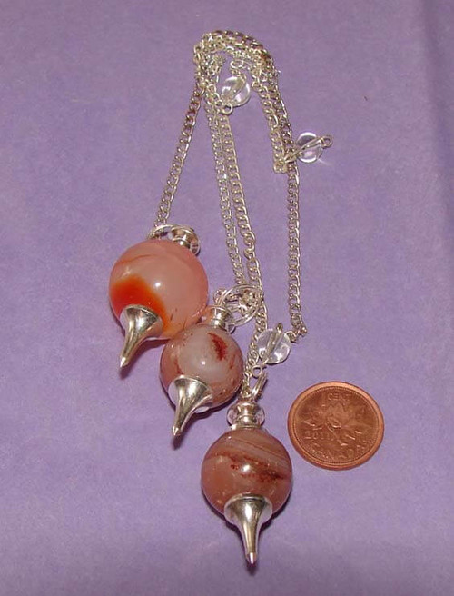 Carnelian Ball & Point Pendulums