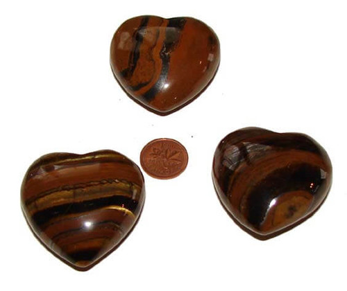 Tiger Iron Puffy Heart Shaped Crystals