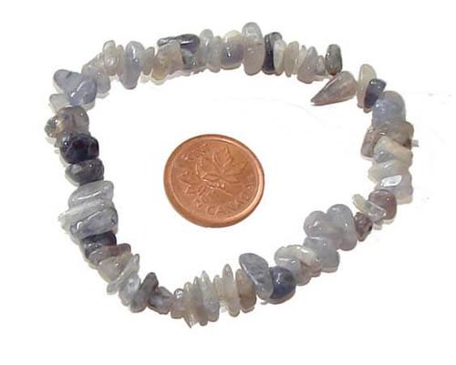 Iolite Semi-Precious Chip Stone Bracelet