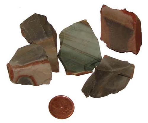 Polychrome Jasper rough stones - size medium