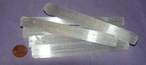 Selenite Crystal Rulers from Morocco , Size - 30 to 39 grams, 5 inches