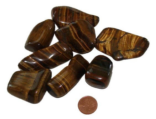 Gold Tigers Eye tumbled stones - size XXX large