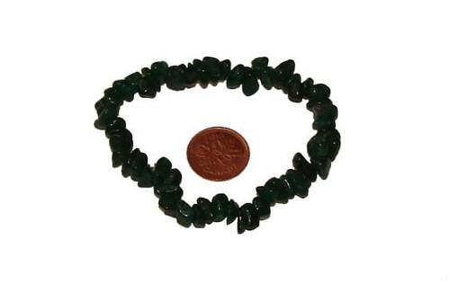 Dark Green Aventurine Chipstone Bracelet