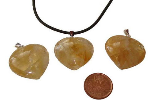 Citrine Heart Pendants