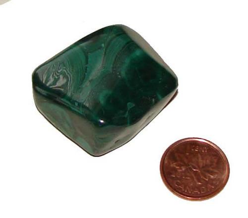 Tumbled Malachite Stone - Specimen I - Image 2