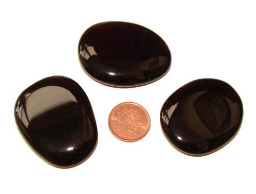 Black Obsidian Pocket Stones, medium