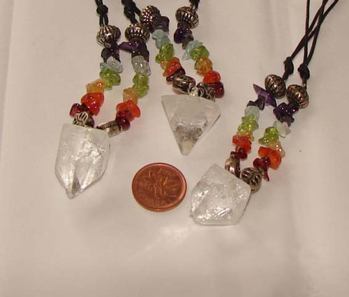 Apophyllite Point Necklaces with Chakra Chips, Image 1
