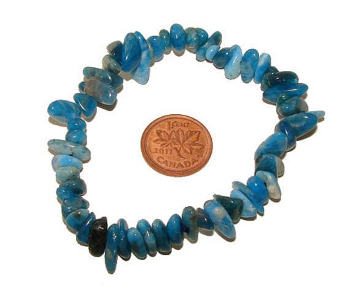 Blue Apatite Chipstone Bracelet