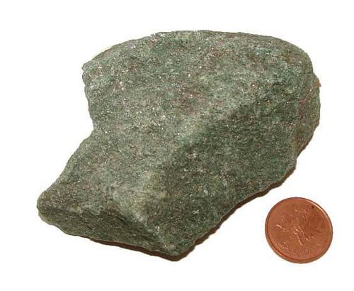Raw Green Fuschite Mineral Stone - Specimen H