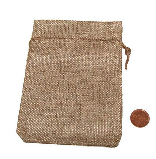 Light Brown Burlap Pouches, 3-1/2 x 5 inches