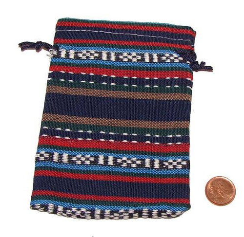 Ethnic Style Cloth Pouch, Style A, 13 x 9.5 cm