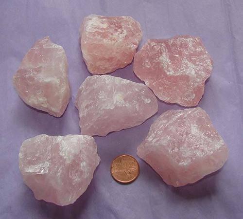 Raw Rose Quartz Stones, Size Humungous