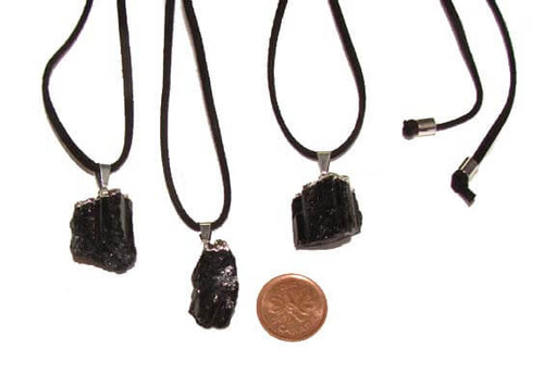 Black Tourmaline Crystal Rod Necklaces