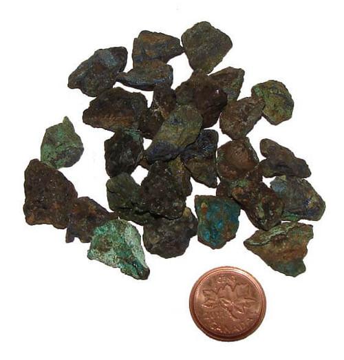 Rough Azurite Stones, size 1 gram