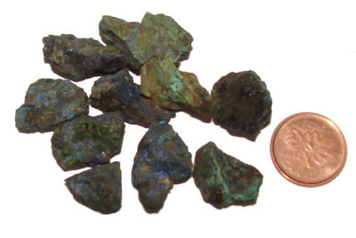 Rough Azurite Mineral, size teeny, 2 grams