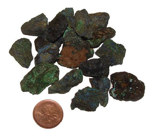 Rough Azurite Mineral, Extra Small, 3-4 grams, 1/2 to 7/8 inches