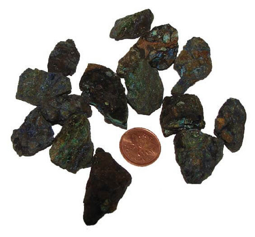 Natural Azurite Raw Stone, Small, 5-9 grams, 3/4 to 1-1/4 inches
