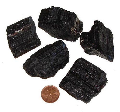 Black Tourmaline Crystal Rods from Brazil, size gigantic