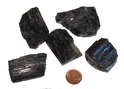 Black Tourmaline Crystal Rods from Brazil, size humungous