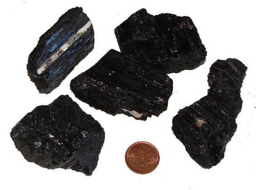 Black Tourmaline Crystal Rods from Brazil, size colossal
